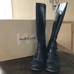 Matisse moto leather boots